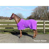 QHP Fleece Rug color with cross surcingles. 125 / Passion Flower - Eqclusive  - 2