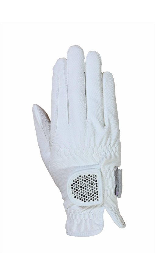 HAUKESCHMIDT Magic Tack Gloves 6 / White / Chessboard - Eqclusive  - 15