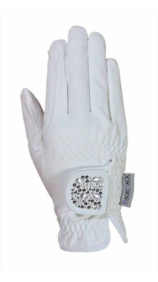 HAUKESCHMIDT Magic Tack Gloves 6 / White / Mixed - Eqclusive  - 8