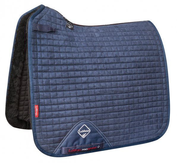 LeMeiux Merino+ Sensitive Skin Dressage Square L / Navy - Eqclusive  - 2