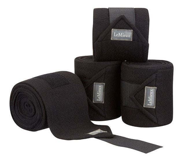 LeMieux Luxury Polo Bandages Full (Set of 4) / Black - Eqclusive  - 7