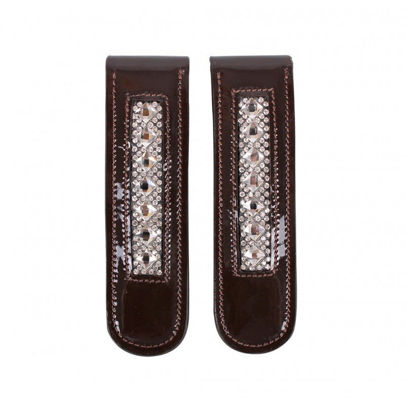 QHP Boot clip Shakira Brown/Silver - Eqclusive  - 1