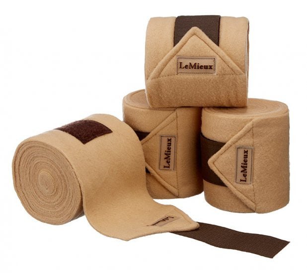 LeMieux Luxury Polo Bandages Full (Set of 4) / Beige/Brown - Eqclusive  - 5