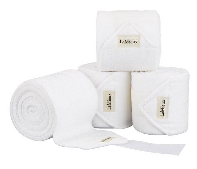 LeMieux Luxury Polo Bandages Full (Set of 4) / White - Eqclusive  - 19