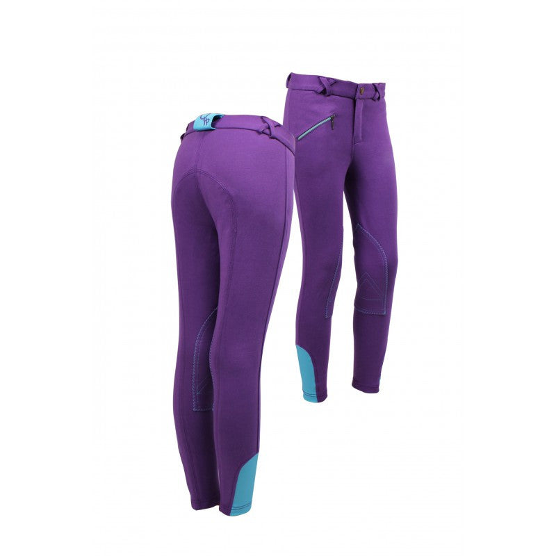 QHP Ridingbreech Junior 116 / Purple-Turquoise - Eqclusive  - 2