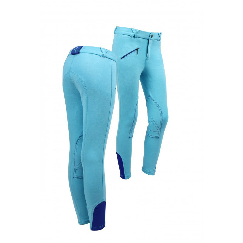 QHP Ridingbreech Junior 116 / Turquoise-Royalblue - Eqclusive  - 3