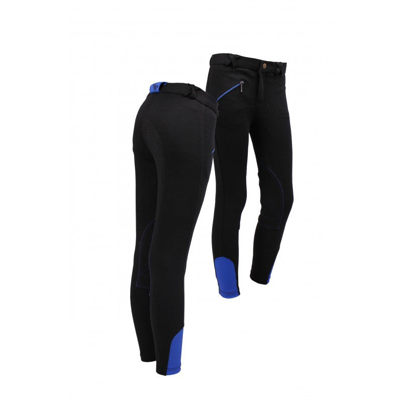 QHP Ridingbreech Junior 116 / Black-Royalblue - Eqclusive  - 4