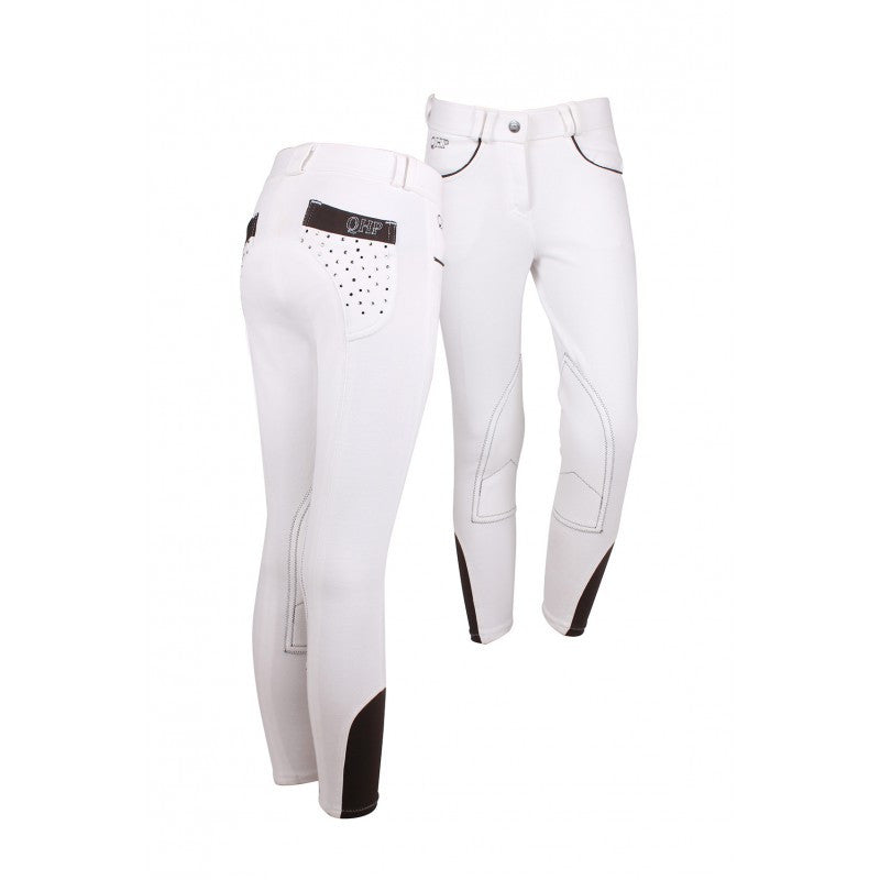 QHP Ridingbreech Junior Pearl 116 / White - Eqclusive  - 3