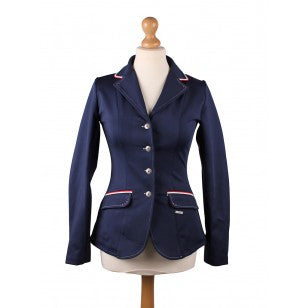 QHP Competition jacket Coco Adult 34 / Estate (Navy/White/Red) - Eqclusive  - 4