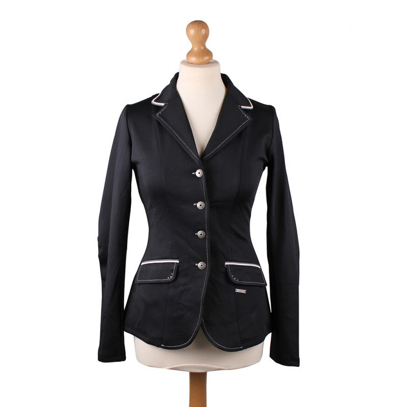 QHP Competition jacket Coco Adult 34 / Midnight (Black/Grey/White) - Eqclusive  - 1