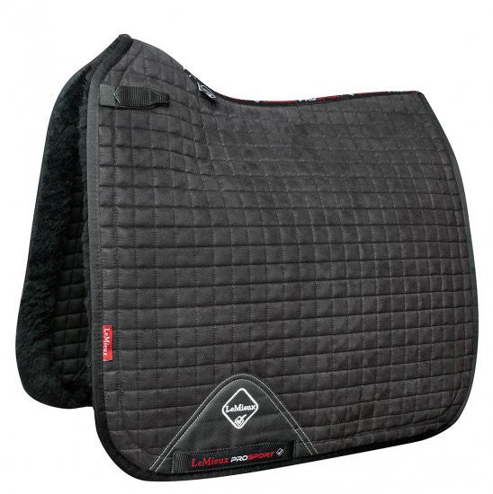 LeMeiux Merino+ Sensitive Skin Dressage Square L / Black - Eqclusive  - 1