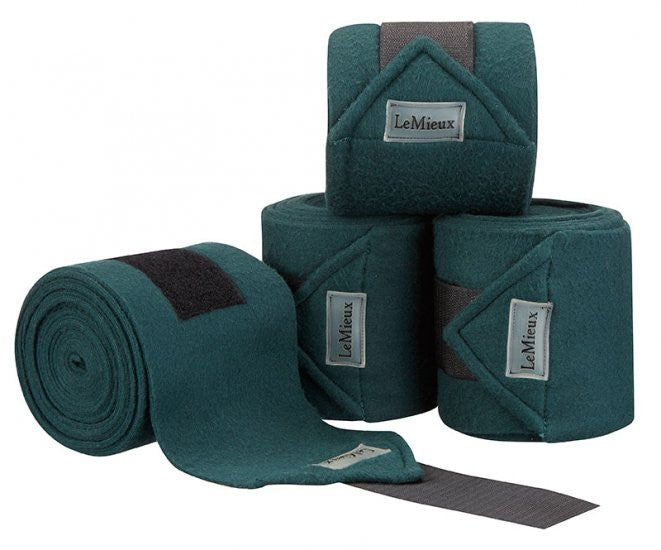 LeMieux Luxury Polo Bandages Full (Set of 4) / Green - Eqclusive  - 11