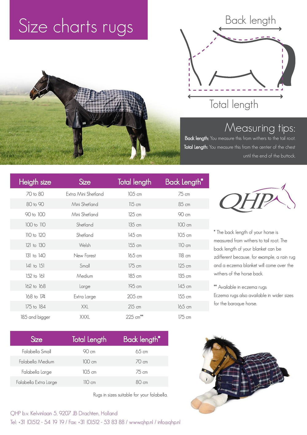 QHP Exercise sheet 420D with fleece lining  - Eqclusive  - 3