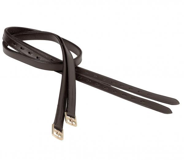 BUSSE Stirrup Leathers PROFESSIONAL 135cm / Black/Stainless Steel - Eqclusive