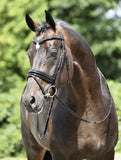 BUSSE Bridle MASSA Cob / Black/Varnish-Crystal - Eqclusive  - 1