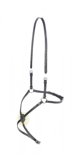 BUSSE Cross-over Noseband SALERMO Cob/Full / Black - Eqclusive  - 1