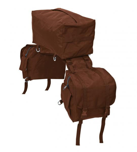 BUSSE Saddle Bag 3-in-1 Dark Brown - Eqclusive  - 2