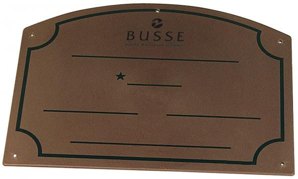 BUSSE Name Board PVC Brown - Eqclusive  - 2