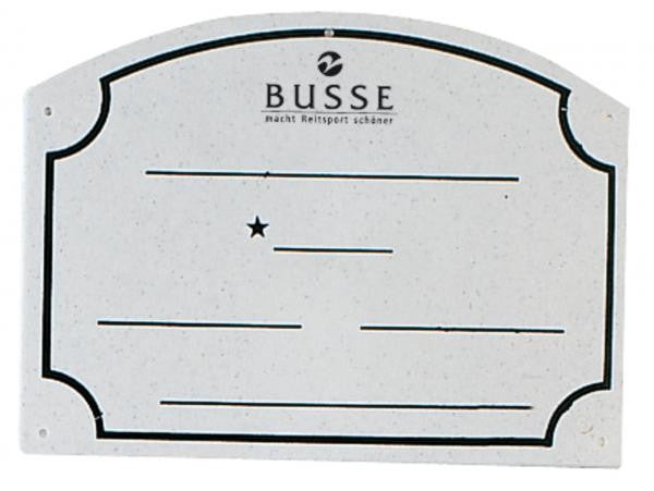 BUSSE Name Board PVC Grey - Eqclusive  - 1
