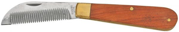 BUSSE Penknife Mane Thinner, Wooden Handle  - Eqclusive