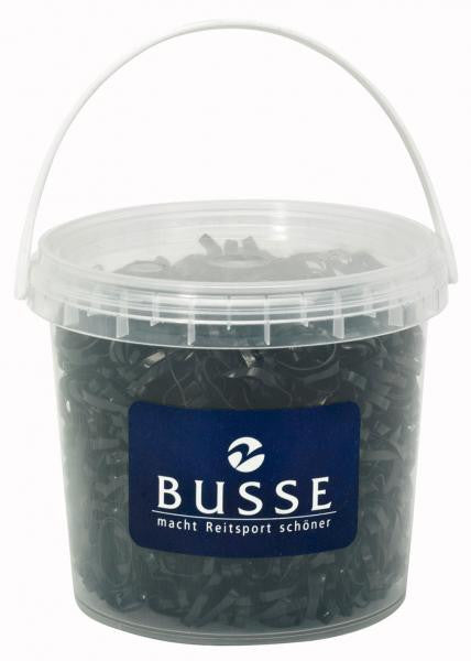 BUSSE Elastic Rubberbands Plaiting SILIKON 30 / Black - Eqclusive  - 3