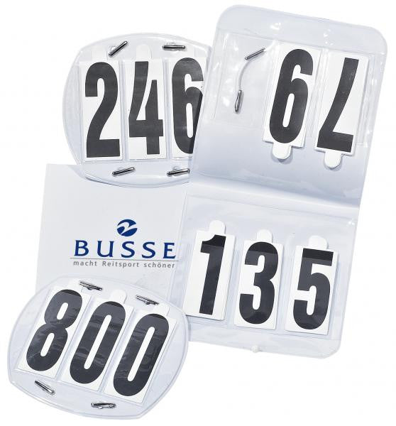 BUSSE Competition Numbers OVAL, bag, 3-digit  - Eqclusive