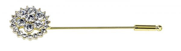 BUSSE Stock Tie Pin FLOWER 65mm / Gold (Crystal) - Eqclusive  - 2