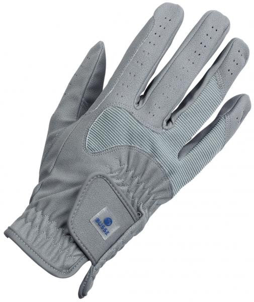BUSSE Riding Gloves CLASSIC STRETCH C_S / Grey - Eqclusive  - 1