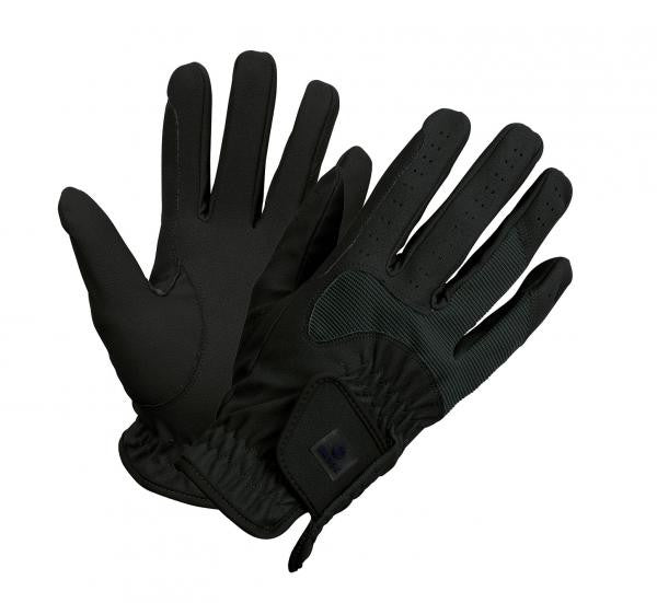 BUSSE Riding Gloves CLASSIC STRETCH C_S / Black - Eqclusive  - 4