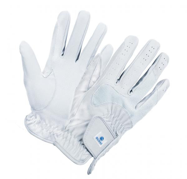 BUSSE Riding Gloves CLASSIC STRETCH C_S / White - Eqclusive  - 3