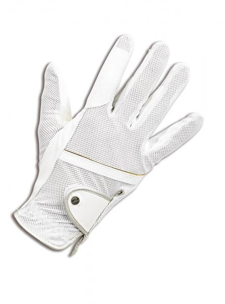 BUSSE Riding Gloves SUMMER XS / White - Eqclusive  - 1
