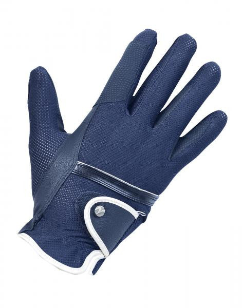 BUSSE Riding Gloves SUMMER XS / Navy - Eqclusive  - 3