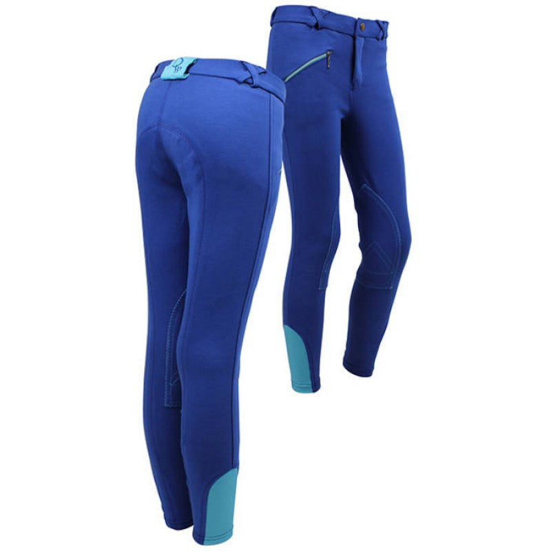 QHP Ridingbreech Junior 116 / Royalblue-Turquoise - Eqclusive  - 1