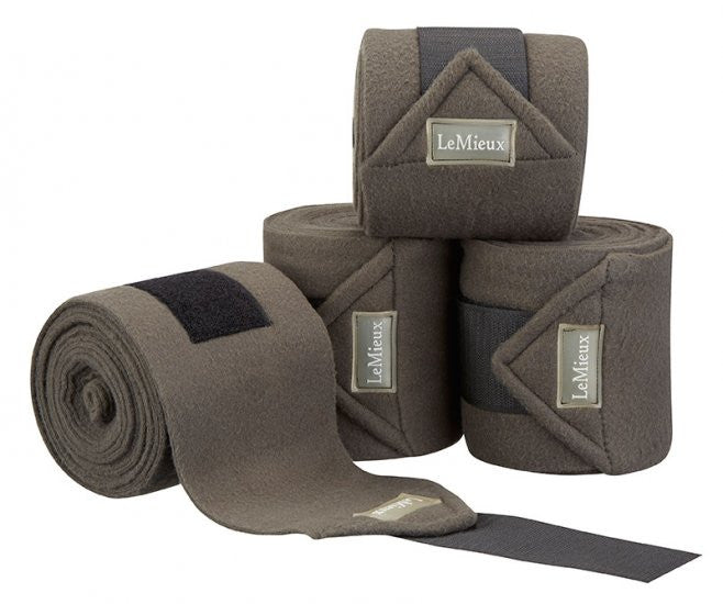 LeMieux Luxury Polo Bandages Full (Set of 4) / Grey - Eqclusive  - 12