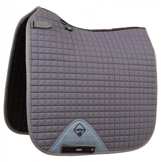 LeMieux ProSport Dressage Sq Plain D-Ring M / Grey - Eqclusive  - 2