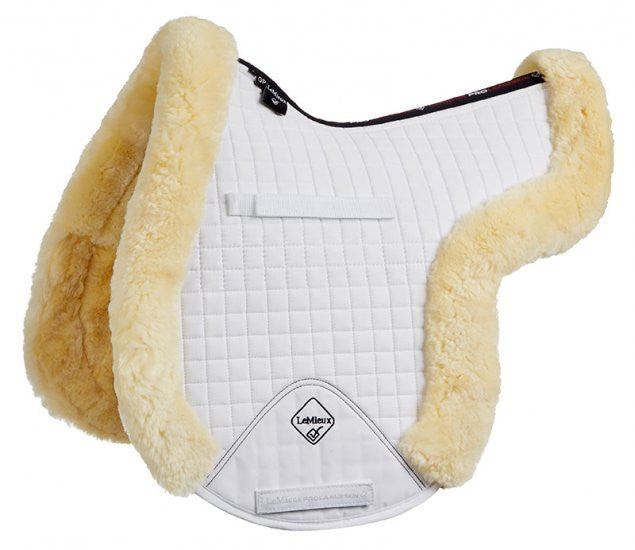 LeMieux ProLambswool Full Monty GP Numnah M / Natural/White - Eqclusive  - 3