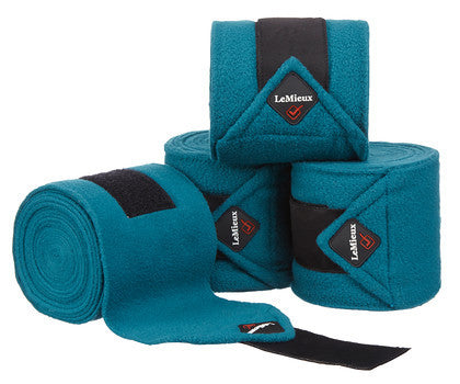 LeMieux Luxury Polo Bandages Full (Set of 4) / Peacock Green - Eqclusive  - 15