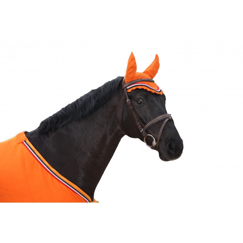 QHP Ear net Holland Pony / Orange - Eqclusive