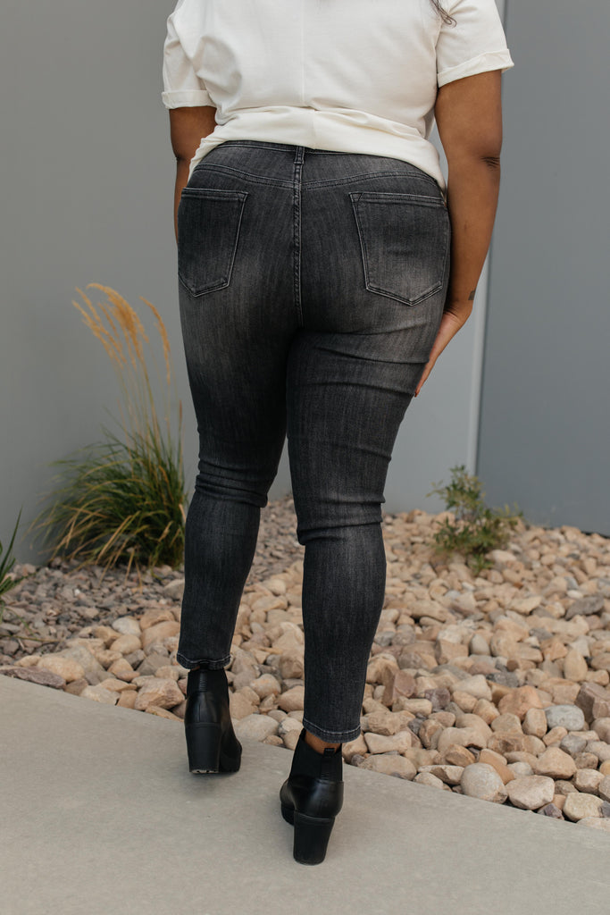 Black Gold High Waist Jeans