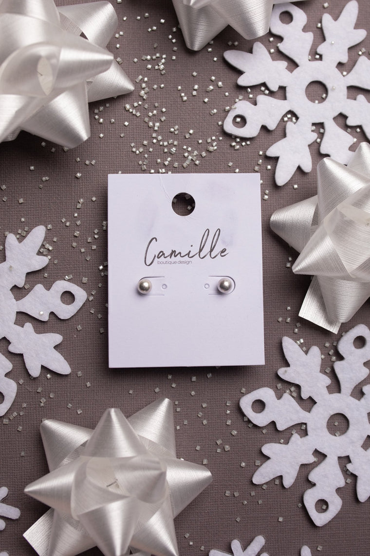 Subtle Holiday Feels Small Stud Earrings in Silver