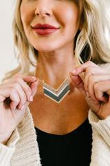 share the love chevron necklace