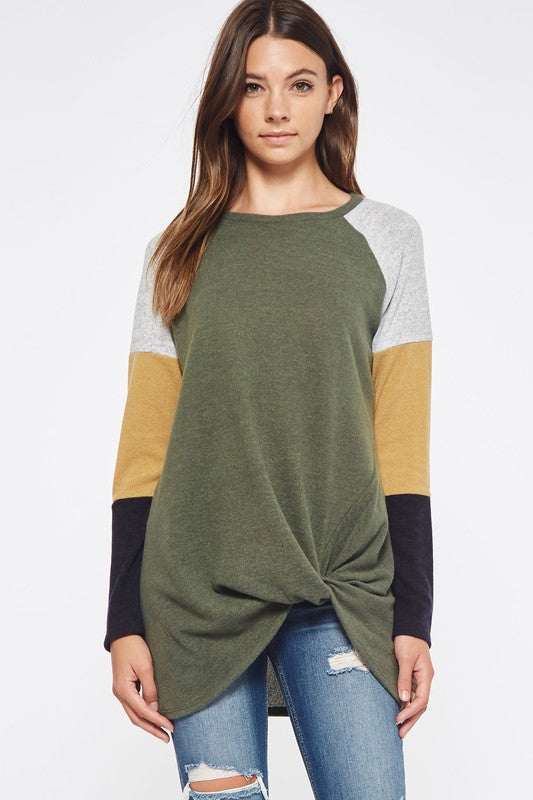 Mollie Colorblock Top