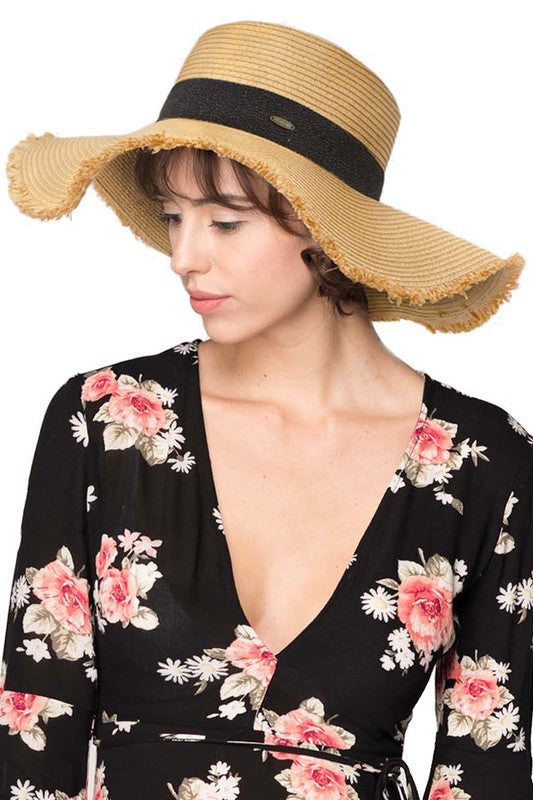 C.C. wide brim hat