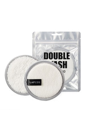 Reusable double wash cleansing pads
