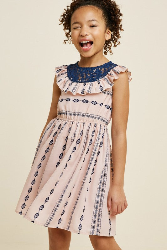 Play date girls tribal lace dress