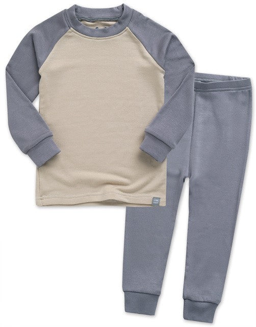 Grey & Beige Long Sleeve PJ's