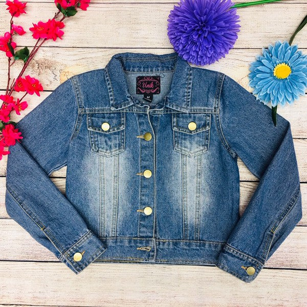 Girls Light Denim Jacket