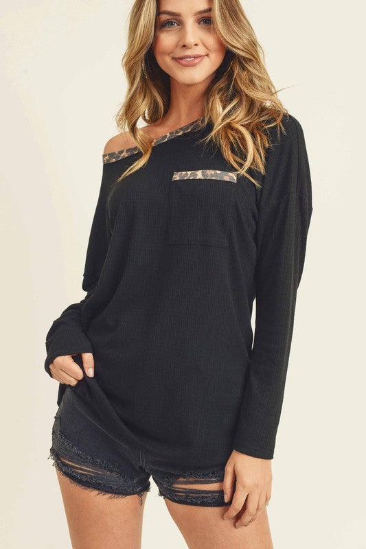 A touch of wild long sleeve top