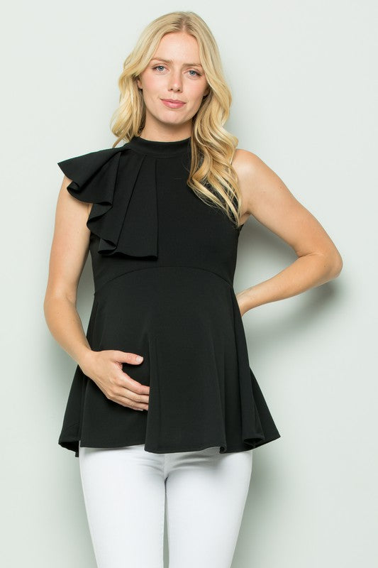 Mock Neck Sleeveless mama top