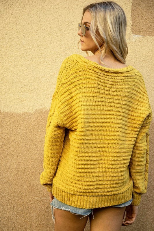 Camille Knit Sweater - mustard